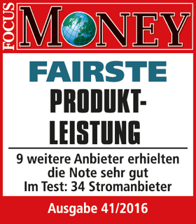 Focus Money Test Stromanbieter: Fairste Produkt-Leistung